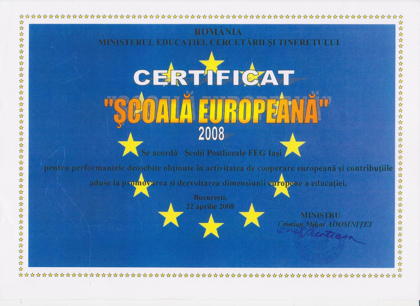 Scoala Europeana 2008